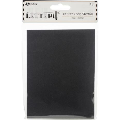 Ranger Letter It Cardstock 4.25X5.5 12/Pkg - Black
