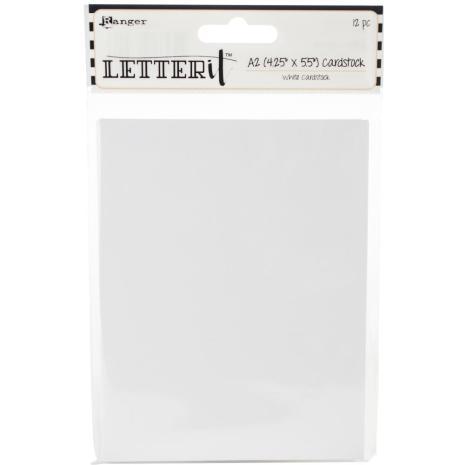 Ranger Letter It Cardstock 4.25X5.5 12/Pkg - White