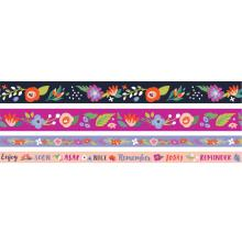 We R Memory Keepers Washi Tape Rolls 4/Pkg - Dark Floral