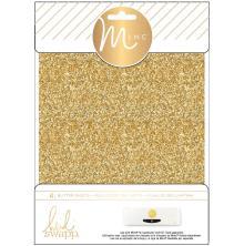 Heidi Swapp Minc Glitter Sheets 6X8 4/Pkg - Gold