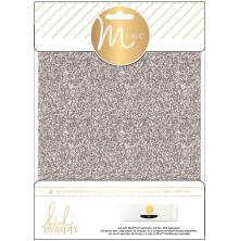 Heidi Swapp Minc Glitter Sheets 6X8 4/Pkg - Silver
