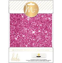 Heidi Swapp Minc Glitter Sheets 6X8 4/Pkg - Pink