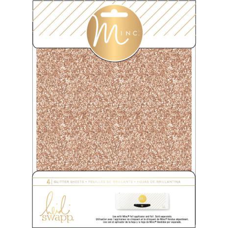 Heidi Swapp Minc Glitter Sheets 6X8 4/Pkg - Rose Gold