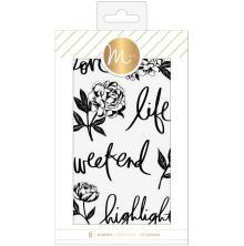 Heidi Swapp Minc Clear Stamps 8/Pkg - Floral