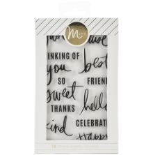 Heidi Swapp Minc Clear Stamps 14/Pkg - Sentiments