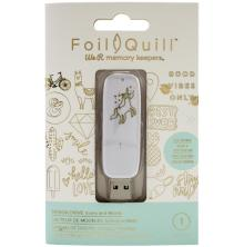 We R Memory Keepers Foil Quill USB Artwork Drive - Icons & Words