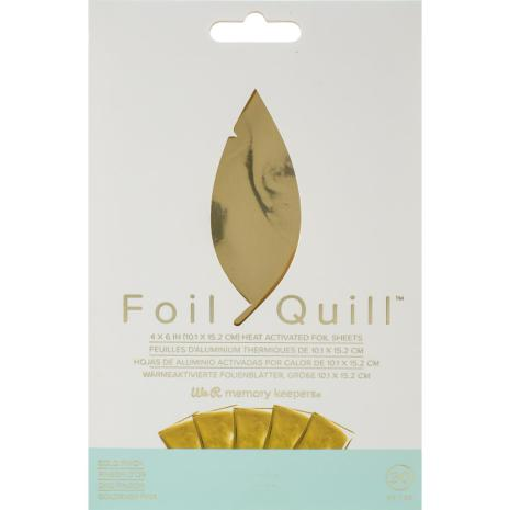 We R Memory Keepers Foil Quill Foil Sheets 4X6 30/Pkg - Gold Finch