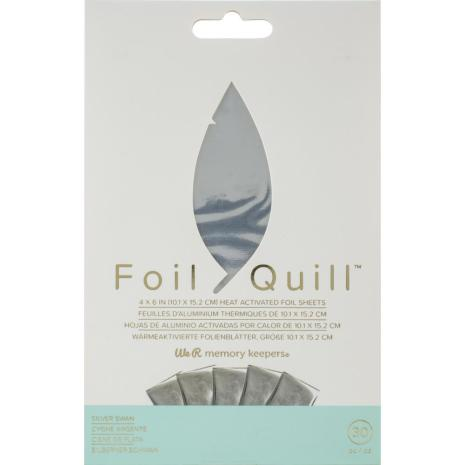 We R Memory Keepers Foil Quill Foil Sheets 4X6 30/Pkg - Silver Swan