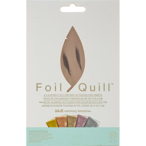 We R Memory Keepers Foil Quill Foil Sheets 4X6 30/Pkg - Shining Starling