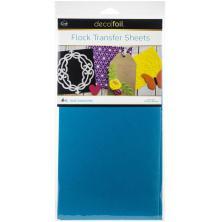 Deco Foil Flock Transfer Sheets 6X12 4/Pkg - Blue Diamond