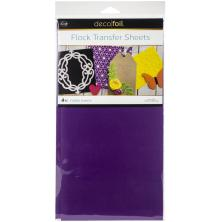 Deco Foil Flock Transfer Sheets 6X12 4/Pkg - Purple Punch