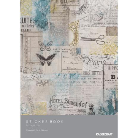 Kaisercraft Sticker Book 6X8 12/Pages - Antiquities
