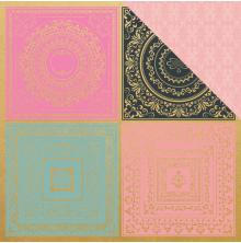 Kaisercraft With Love Foiled Double-Sided Cardstock 12X12 - Hugs & Kisses