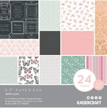 Kaisercraft Paper Pad 6.5X6.5 40/Pkg - With Love