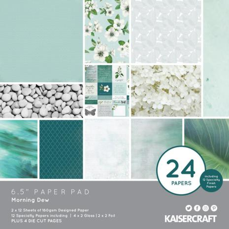 Kaisercraft Paper Pad 6.5X6.5 40/Pkg - Morning Dew