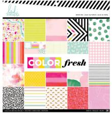 Heidi Swapp Single-Sided Paper Pad 12X12 36/Pkg - Color Fresh