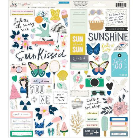 Maggie Holmes Cardstock Stickers 87/Pkg - Sunny Days