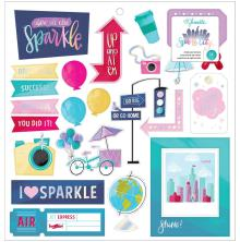Shimelle Chipboard Stickers 12X12 - Sparkle City