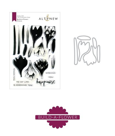 Altenew Clear Stamp And Die Build A flower - Crocus