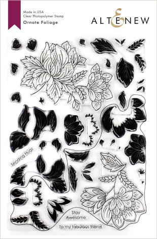 Altenew Clear Stamps 6X8 - Ornate Foliage
