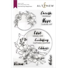 Altenew Clear Stamps 6X8 - Everlasting Happiness