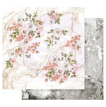 Prima Apricot Honey Double-Sided Cardstock 12X12 - Tiny Blossoms