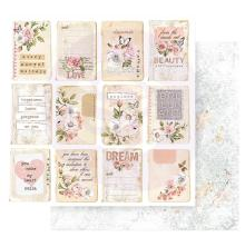Prima Apricot Honey Double-Sided Cardstock 12X12 - Happiness Looks Good On You