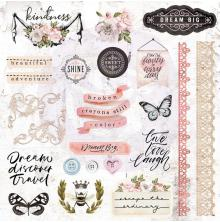 Prima Cardstock Ephemera 51/Pkg - Apricot Honey