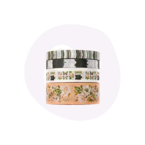 Prima Decorative Tape 4/Pkg - Apricot Honey