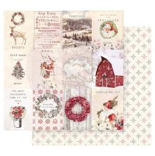 Prima Christmas In The Country Double-Sided Cardstock 12X12 - Spreading Christma