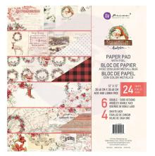 Prima Double-Sided Paper Pad 12X12 24/Pkg - Christmas In The Country