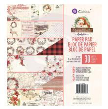 Prima Double-Sided Paper Pad 8X8 30/Pkg - Christmas In The Country