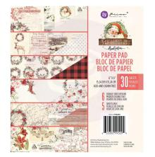 Prima Marketing Double-Sided Paper Pad 6X6 30/Pkg - Christmas In The Country
