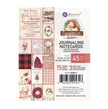 Prima Journaling Cards 3X4 45/Pkg - Christmas In The Country