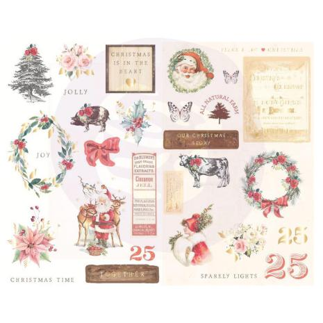 Prima Chipboard Stickers 29/Pkg - Christmas In The Country