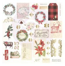 Prima Cardstock Ephemera 34/Pkg - Christmas In The Country