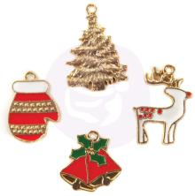 Prima Enamel Charms 4/Pkg - Christmas In The Country