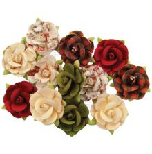 Prima Christmas In The Country Mulberry Paper Flowers - Nutcracker