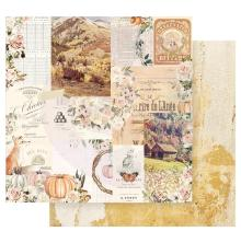 Prima Autumn Sunset Double-Sided Cardstock 12X12 - Autumn Morning