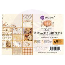 Prima Journaling Cards 4X6 45/Pkg - Autumn Sunset