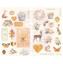Prima Chipboard Stickers 34/Pkg - Autumn Sunset
