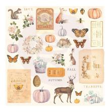 Prima Cardstock Ephemera 36/Pkg - Autumn Sunset