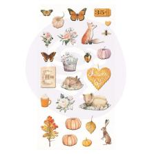 Prima Puffy Stickers 25/Pkg - Autumn Sunset