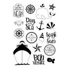 Simple Stories Cruisin Clear Stamps - Set Sail