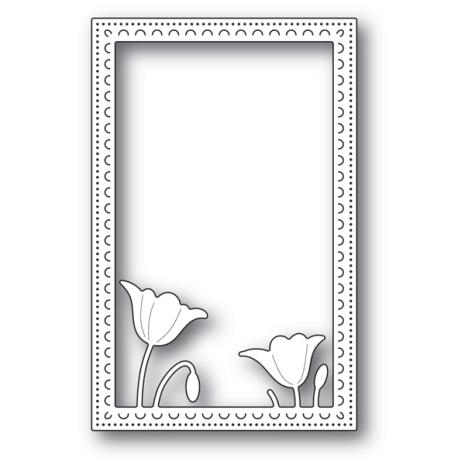 Poppystamps Die - Garden Poppy Stitched Frame 2178