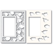 Poppystamps Die - Garden Poppy Sidekick Frame and Stencil 2179