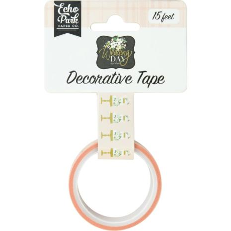 Echo Park Wedding Day Decorative Tape 15ft - Cut The Cake
