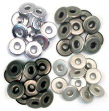 We R Memory Keepers Eyelets Wide 40/Pkg Cool Metal