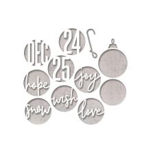 Tim Holtz Sizzix Thinlits Dies - Circle Words Christmas  19-07