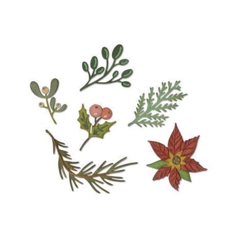 Tim Holtz Sizzix Thinlits Dies - Funky Festive Florals  19-07
